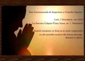 Ziua Internationala de Rugaciune a Femeilor Baptiste 2016 @ Biserica Baptista Golgota | Timișoara | Județul Timiș | România